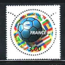 Sellos: SELLOS DEPORTES FUTBOL. FRANCIA 1998 COPA DEL MUNDO 3139 1V.. Lote 127932859