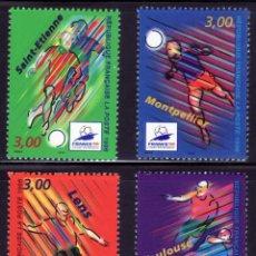 Sellos: SELLOS DEPORTES FUTBOL. FRANCIA 1998 3010/13 SAINT-ETIENNE/MONTPELLIER/LENS. Lote 127933199