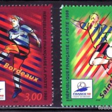 Sellos: SELLOS DEPORTES FUTBOL. FRANCIA 1998 3130/31 BORDEAUX /SAINT DENIS 2V.. Lote 127933579