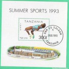 Sellos: HB TANZANIA 1993 DEPORTE. Lote 129102611
