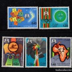 Sellos: ARGELIA 685/89** - AÑO 1978 - JUEGOS DEPORTIVOS AFRICANOS. Lote 129242907