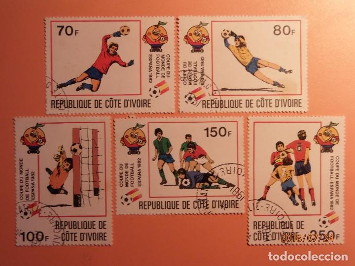 COSTA DE MARFIL - COTE DÍVOIRE - CAMPEONATO MUNDIAL DE FUTBOL (ESPAÑA 82) - NARANJITO. (Sellos - Temáticas - Deportes)