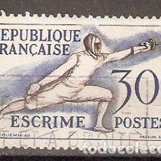 Sellos: FRANCIA. 1953. YT 962. ESGRIMA. Lote 132027490