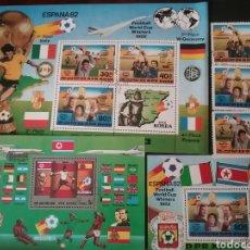 Sellos: HB+SELLOS COREA NORTE MTDOS (DPRK)1982/COPA MUNDIAL FUTBOL ESPAÑA,82/GLOBO TERRÁQUEO/AVIONES/ BANDE. Lote 194362056