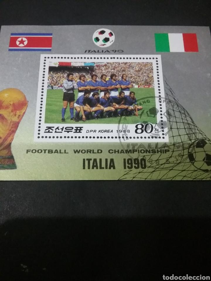 HB COREA NORTE (DPRK) MTDA. 1988/CAMPEONATO/MUNDIAL/FUTBOL/ITALIA/BAMDERA/SELECCION/UNIFORMES (Sellos - Temáticas - Deportes)