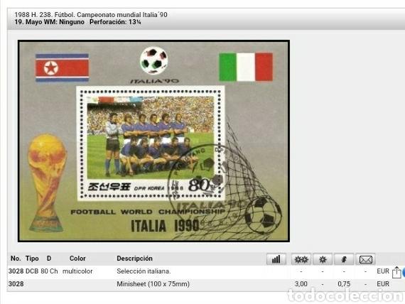 Sellos: HB Corea Norte (DPRK) mtda. 1988/campeonato/mundial/futbol/Italia/bamdera/seleccion/uniformes - Foto 2 - 133498914