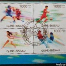 Sellos: DEPORTES HOJA BLOQUE DE SELLOS USADOS DE GUINEA BISSAU. Lote 133572018