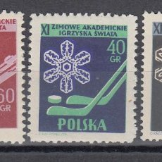 Sellos: DEPORTES INVIERNO , POLONIA, YVERT Nº 852 / 854 /**/. Lote 133594858