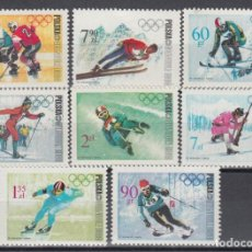 Sellos: DEPORTES INVIERNO , POLONIA, YVERT Nº 1670 / 1677 /**/. Lote 133595006