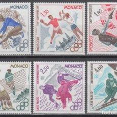 Sellos: DEPORTES, MONACO , YVERT Nº 1218 / 1223 /**/, JUEGOS OLÍMPICOS DE MOSCU.. Lote 133595814