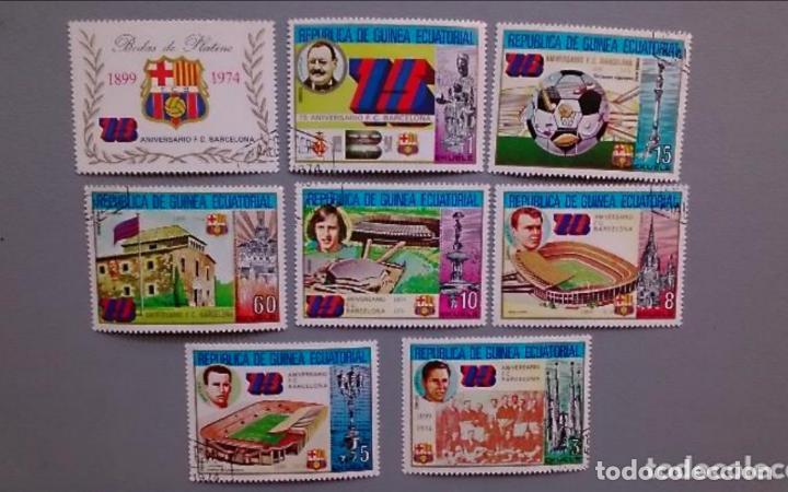 SERIE TEMATICA FUTBOL - 75 ANIVERSARIO F.C. BARCELONA - 1899 1974 - MNH** - NUEVOS MATSELLOS FAVOR (Sellos - Temáticas - Deportes)