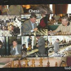 Sellos: BURUNDI 2009 HOJA BLOQUE SELLOS AJEDREZ- CHESS- GRAN MAESTRO ANATOLY KARPOV . Lote 135681487
