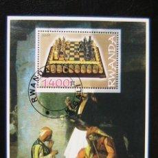 Sellos: RWANDA 2005 HOJA BLOQUE SELLOS AJEDREZ - CHESS . Lote 135688975