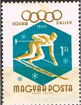 HUNGRIA Nº 1695, ESQUI, DESCENSO, JUEGOS OLÍMPICOS DE INVIERNO EN SQUAW VALLEY, NUEVO *** (Sellos - Temáticas - Deportes)