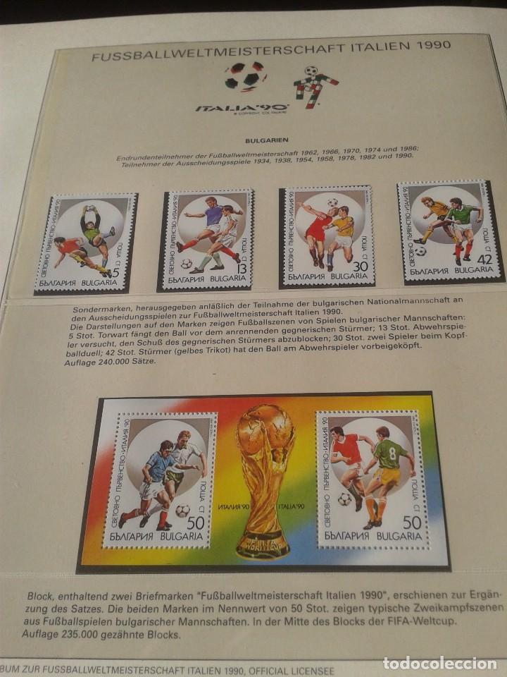 HUNGRIA MAGYAR 1990 SELLOS CONMEMORATIVOS DE LA COPA MUNDIAL DE FUTBOL ITALIA 90- FIFA (Sellos - Temáticas - Deportes)