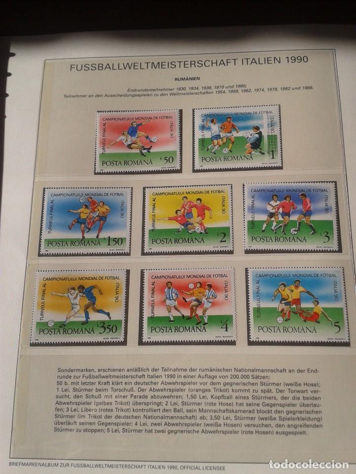 RUMANIA 1990 HOJA BLOQUE SELLOS CONMEMORATIVOS DE LA COPA MUNDIAL DE FUTBOL ITALIA 90- FIFA (Sellos - Temáticas - Deportes)