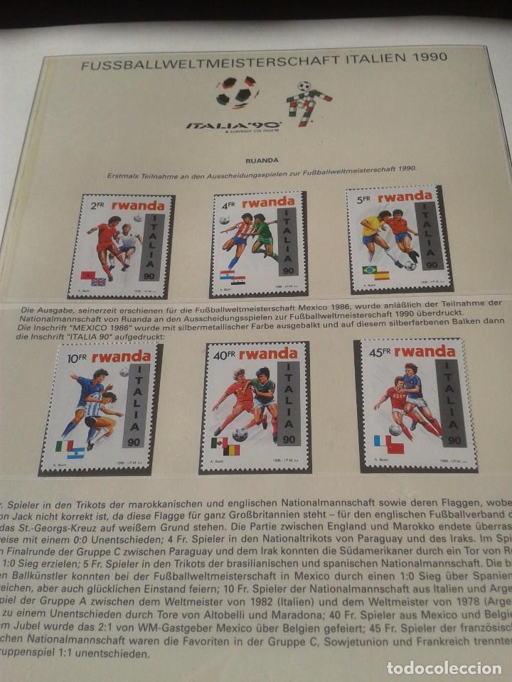 RWANDA- RUANDA 1990 SELLOS CONMEMORATIVOS DE LA COPA MUNDIAL DE FUTBOL ITALIA 90- FIFA (Sellos - Temáticas - Deportes)