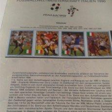 Sellos: PARAGUAY 1990 SELLOS CONMEMORATIVOS DE LA COPA MUNDIAL DE FUTBOL ITALIA 90- FIFA- LINEKER- LAUDRUP . Lote 140256590