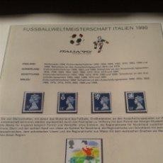 Sellos: GRAN BRETAÑA 1988 SELLOS CONMEMORATIVOS DE LA COPA MUNDIAL DE FUTBOL ITALIA 90- FIFA . Lote 140257806
