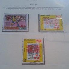 Sellos: PARAGUAY 1990 HOJA BLOQUE DE SELLOS CONMEMORATIVOS DE LA COPA MUNDIAL DE FUTBOL ITALIA 90- FIFA . Lote 140280410