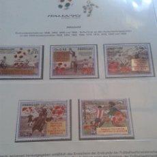 Sellos: PARAGUAY 1990 HOJA BLOQUE DE SELLOS CONMEMORATIVOS DE LA COPA MUNDIAL DE FUTBOL ITALIA 90- FIFA . Lote 140280950