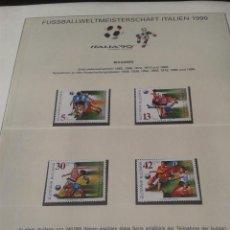 Sellos: BULGARIA 1990 SELLOS CONMEMORATIVOS DE LA COPA MUNDIAL DE FUTBOL ITALIA 90- FIFA . Lote 140281690
