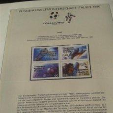 Sellos: BULGARIA 1990 HOJA BLOQUE DE SELLOS CONMEMORATIVOS DE LA COPA MUNDIAL DE FUTBOL ITALIA 90- FIFA . Lote 140282118