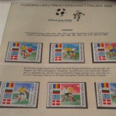 Sellos: RUMANIA 1990 HOJA BLOQUE SELLOS CONMEMORATIVOS DE LA COPA MUNDIAL DE FUTBOL ITALIA 90- FIFA . Lote 140282630