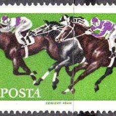 Sellos: 1961 - HUNGRIA - DEPORTES HIPICOS - CARRERA DE CABALLOS - YVERT 1459. Lote 140297074