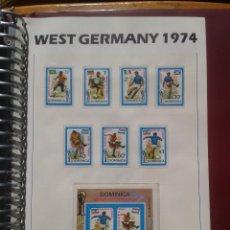 Sellos: DOMINICA 1974 HOJA BLOQUE + SELLOS CONMEMORATIVOS DE LA COPA MUNDIAL DE FUTBOL ALEMANIA 74- FIFA . Lote 140385906