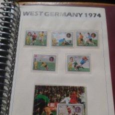 Sellos: FUJEIRA 1974 HOJA BLOQUE + SELLOS CONMEMORATIVOS DE LA COPA MUNDIAL DE FUTBOL ALEMANIA 74- FIFA . Lote 140386250