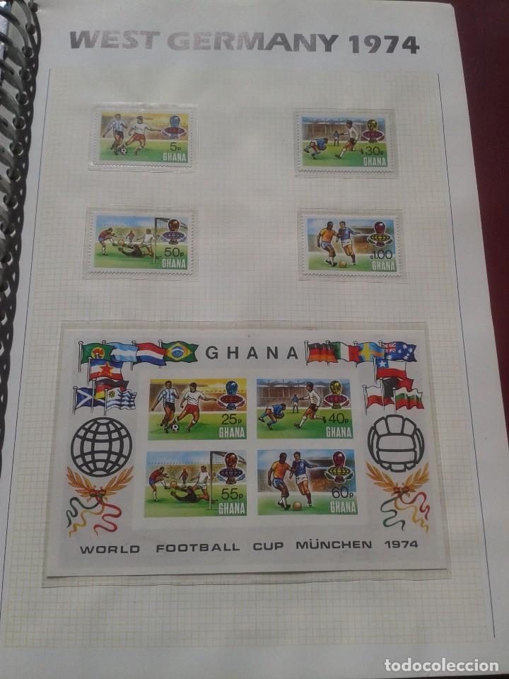 GHANA 1974 HOJA BLOQUE + SELLOS CONMEMORATIVOS DE LA COPA MUNDIAL DE FUTBOL ALEMANIA 74- FIFA (Sellos - Temáticas - Deportes)