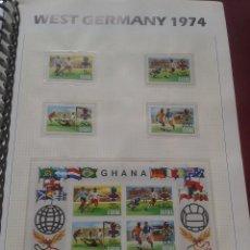 Sellos: GHANA 1974 HOJA BLOQUE + SELLOS CONMEMORATIVOS DE LA COPA MUNDIAL DE FUTBOL ALEMANIA 74- FIFA . Lote 140386730