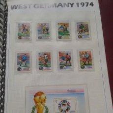 Sellos: GRENADINES 1974 HOJA BLOQUE + SELLOS CONMEMORATIVOS DE LA COPA MUNDIAL DE FUTBOL ALEMANIA 74- FIFA . Lote 140390358