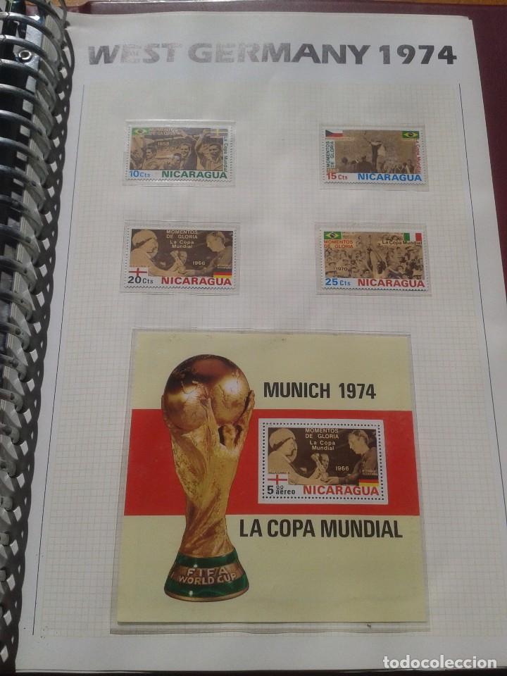 NICARAGUA 1974 HOJA BLOQUE + SELLOS CONMEMORATIVOS DE LA COPA MUNDIAL DE FUTBOL ALEMANIA 74- FIFA (Sellos - Temáticas - Deportes)