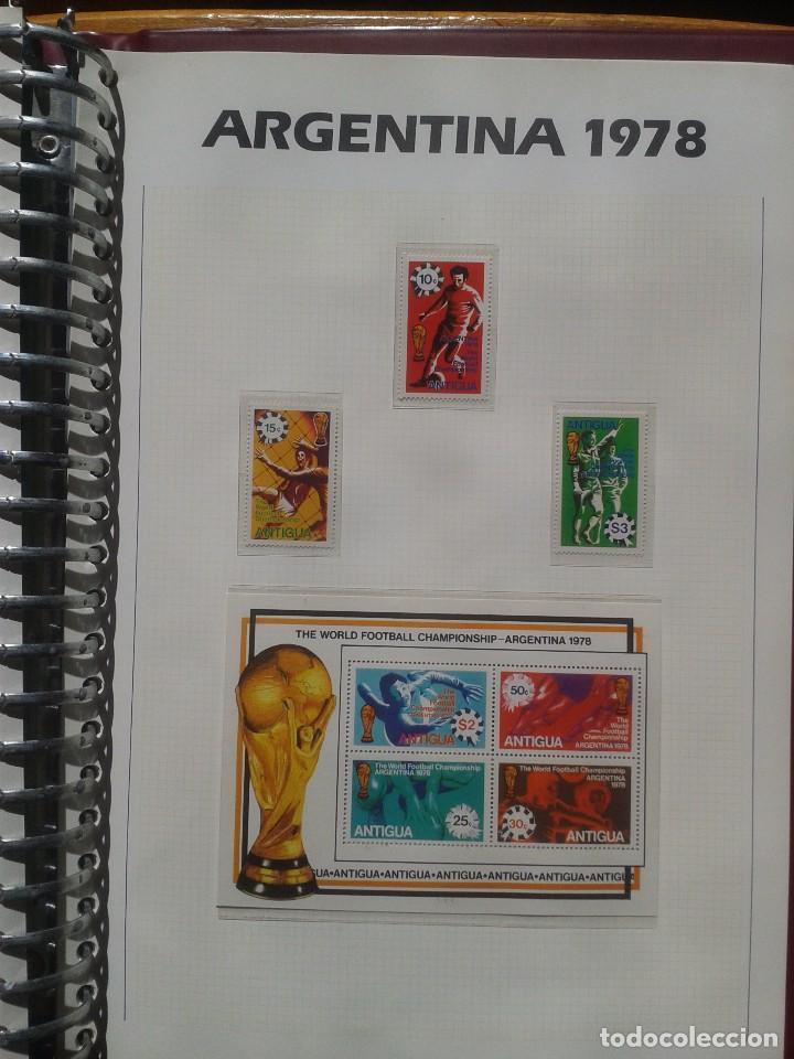 ANTIGUA 1978 HOJA BLOQUE + SELLOS CONMEMORATIVOS DE LA COPA MUNDIAL DE FUTBOL ARGENTINA 78- FIFA (Sellos - Temáticas - Deportes)