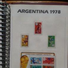 Sellos: ANTIGUA 1978 HOJA BLOQUE + SELLOS CONMEMORATIVOS DE LA COPA MUNDIAL DE FUTBOL ARGENTINA 78- FIFA. Lote 140391986