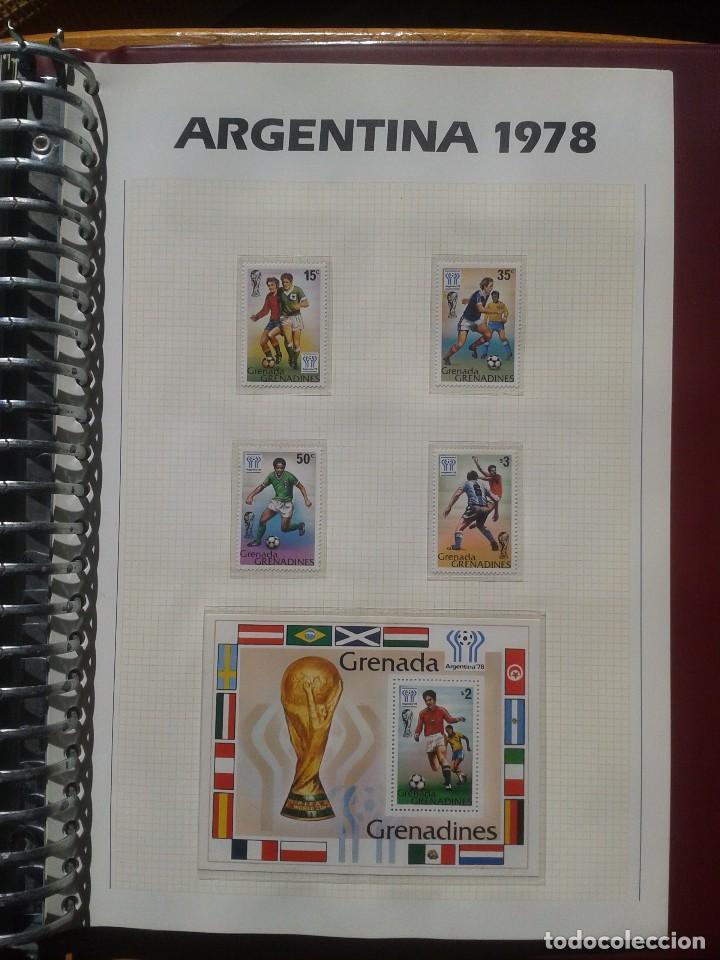 GRENADINES 1978 HOJA BLOQUE + SELLOS CONMEMORATIVOS DE LA COPA MUNDIAL DE FUTBOL ARGENTINA 78- FIFA (Sellos - Temáticas - Deportes)
