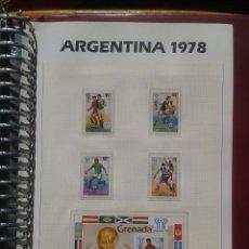 Sellos: GRENADINES 1978 HOJA BLOQUE + SELLOS CONMEMORATIVOS DE LA COPA MUNDIAL DE FUTBOL ARGENTINA 78- FIFA . Lote 140392386