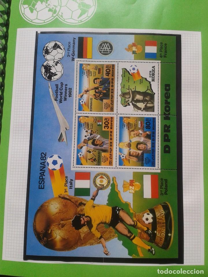 COREA HOJA BLOQUE + SELLOS CONMEMORATIVOS COPA MUNDIAL DE FUTBOL ESPAÑA 82- FIFA- ITALIA CAMPEON (Sellos - Temáticas - Deportes)