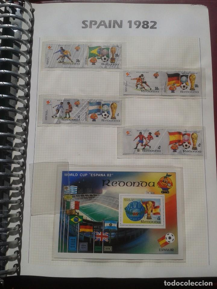 GHANA HOJA BLOQUE + SELLOS CONMEMORATIVOS COPA MUNDIAL DE FUTBOL ESPAÑA 82- FIFA (Sellos - Temáticas - Deportes)