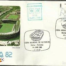 Sellos: SOBRE PRIMER DIA CIRCULACION MUNDIAL DE FUTBOL ESPAÑA 82- ITALIA 0 - POLONIA 0 - FIFA- FDC . Lote 140795390