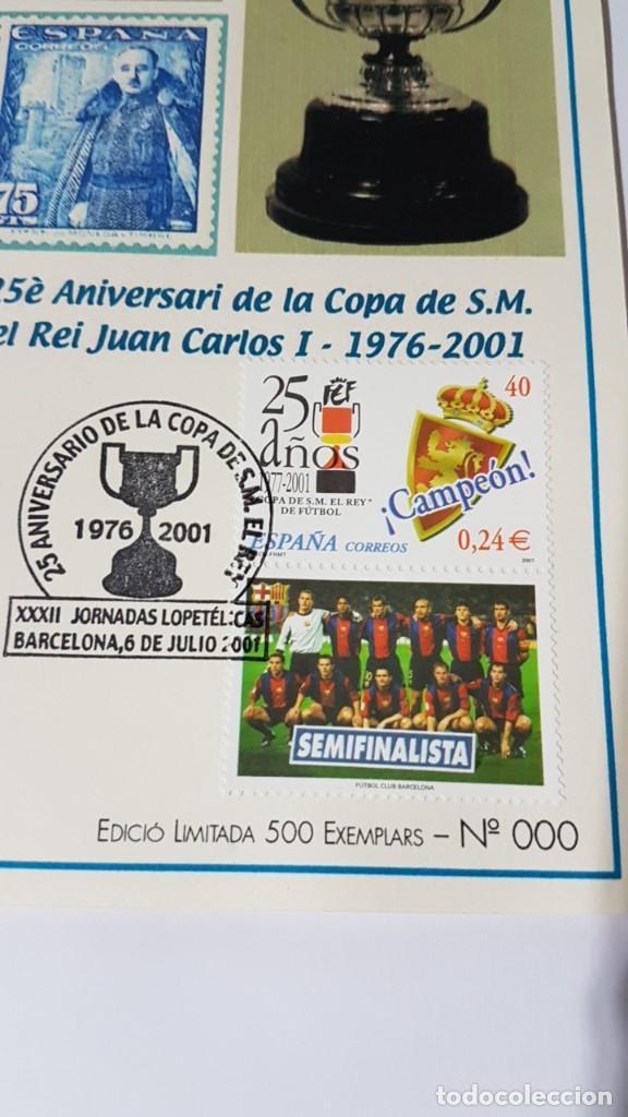 Sellos: 25 ANIVERSARIO DE LA COPA DE S. M. EL REY JUAN CARLOS I, 1976-2001 - Foto 2 - 142338590