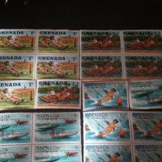 Sellos: SELLOS GRANADA (GRENADA) NUEVOS/1977/DEPORTES AGUA/SCOUTS/JUEGOS/BARCA/MADERA/LANCHA/TRANSPORTES. Lote 142866293