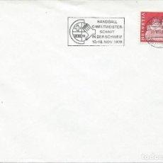 Sellos: 1978. SWITZERLAND. RODILLO/SLOGAN. CAMP. MUNDIAL DE BALONMANO. DEPORTES/SPORTS. HANDBALL.. Lote 143158094