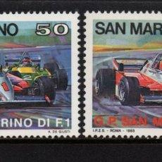 Sellos: SAN MARINO 1078/79** - AÑO 1983 - AUTOMOVILES - GRAN PREMIO DE FORMULA I DE SAN MARINO. Lote 143165394