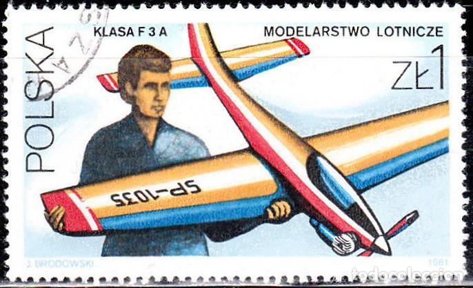 1981 - POLONIA - MODELISMO DEPORTIVO - AEROPLANO - YVERT 2573 (Sellos - Temáticas - Deportes)