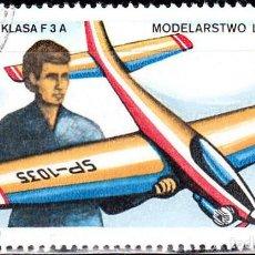 Sellos: 1981 - POLONIA - MODELISMO DEPORTIVO - AEROPLANO - YVERT 2573. Lote 143391870