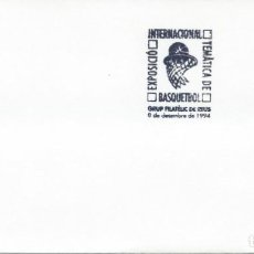 Sellos: 1994. SPAIN. REUS. MATASELLOS/POSTMARK. EXP. INTERNAC. BALONCESTO. BASKETBALL.. Lote 143636818