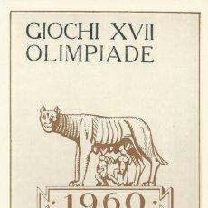 Sellos: 1960. ITALIA. MÁXIMA/MAXIMUM CARD. JUEGOS OLÍMPICOS DE ROMA. YVERT 813. OLYMPICS. DEPORTES/SPORTS.. Lote 143650726